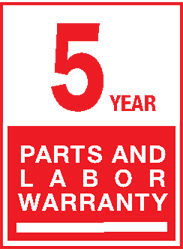 5 Year Parts Labor LG