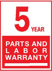 5 Year Parts Labor LG