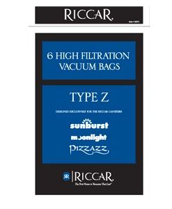 Riccar Canister Paper Bags for Pizzazz, Moonlight and Sunburst, 6 Pack