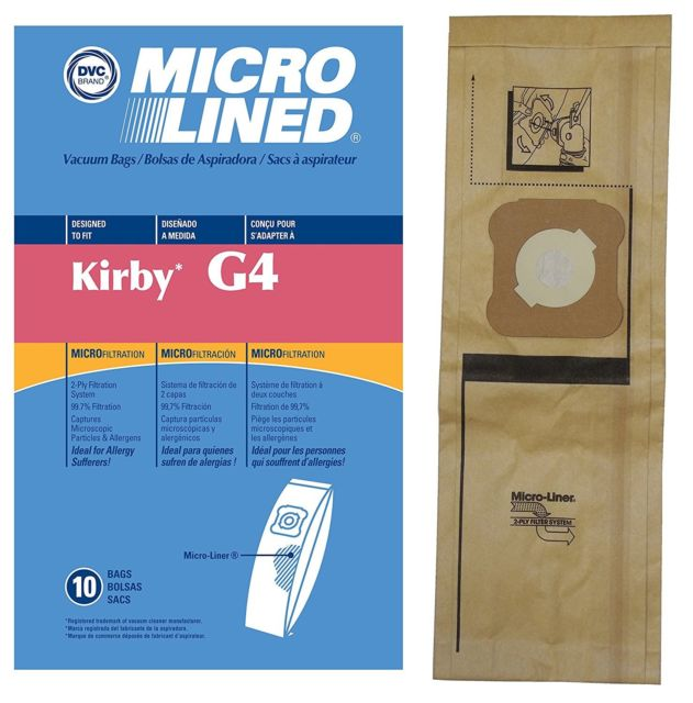 Kirby Generation Series Dvc Micro Lined Allergen Filtration Upright Bags 10 Pack Vacuum Cleaners Best Vac St Charles Batavia Geneva Illinois