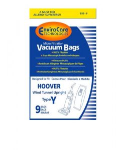 PAPER BAG, HOOVER TYPE Y MICRO W/CLOSURE ENVIROCARE 9PK