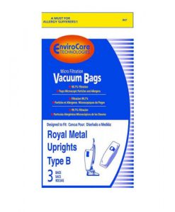 PAPER BAG, TYPE B METAL UPRIGHT MICRO ENVIROCARE 3PK