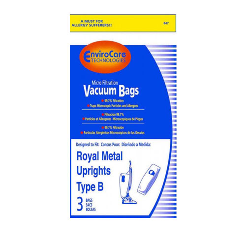 Paper Bag Type B Metal Upright Micro Envirocare 3pk