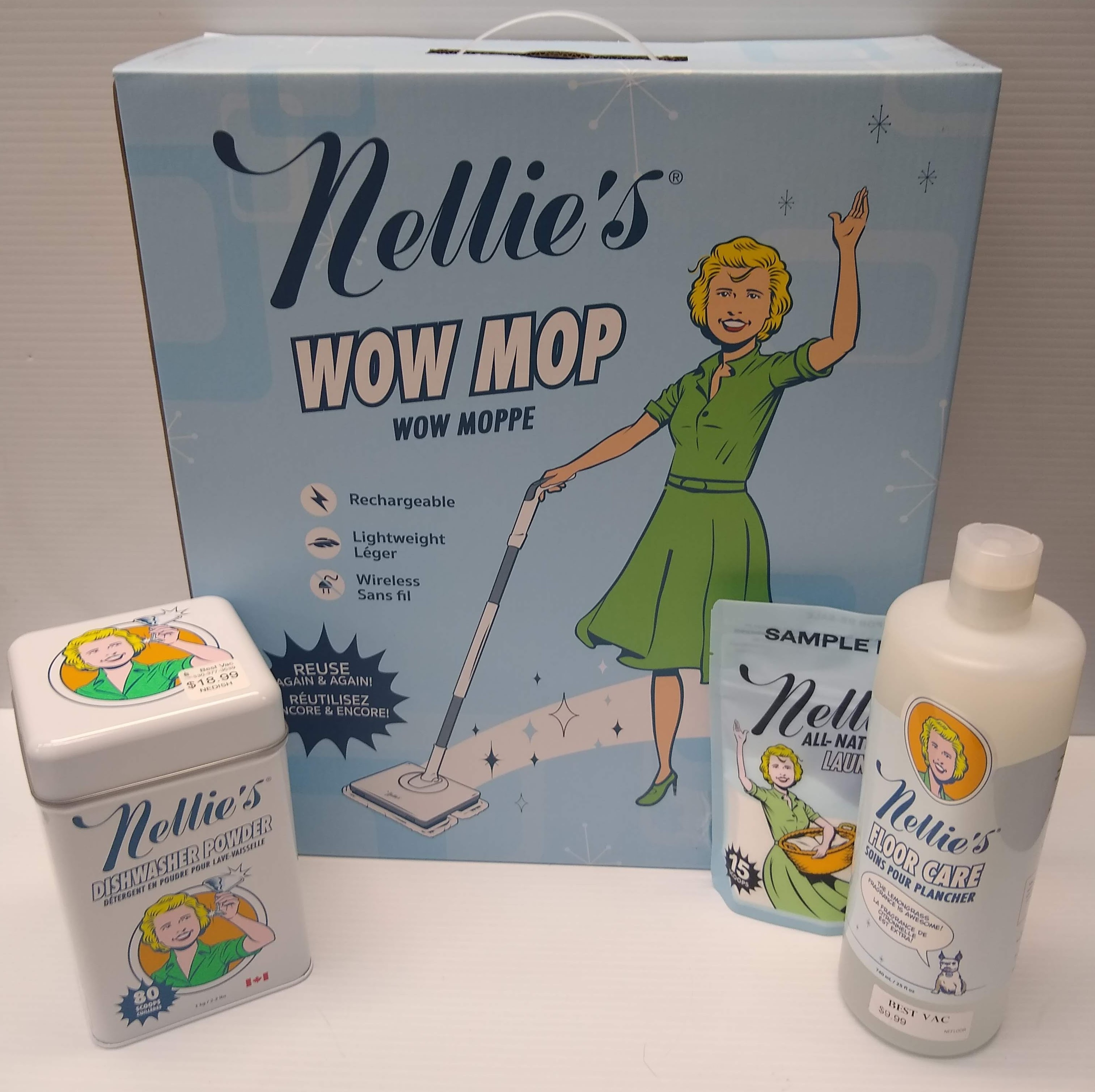 Nellie S Wow Mop Special Package Vacuum Cleaners Best